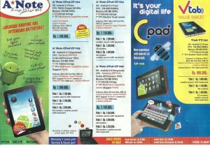 A*Note Android vTab hanya Rp899.000