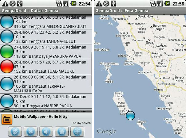 GempaDroid on Android Google Play