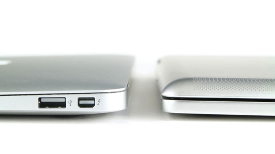 The Brydge Compared with MacBook Air