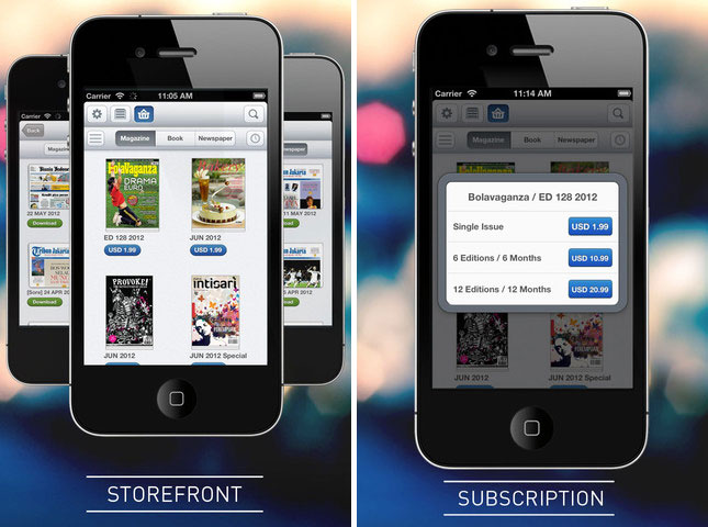 SCOOP NewsStand StoreFront and Subscription Page via GadgetGaul.com