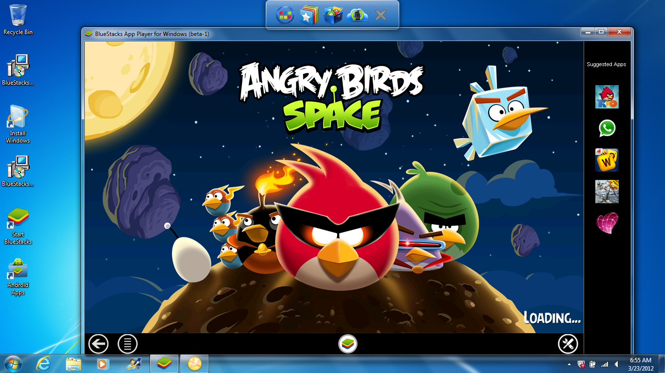 BlueStack Angry Birds Space