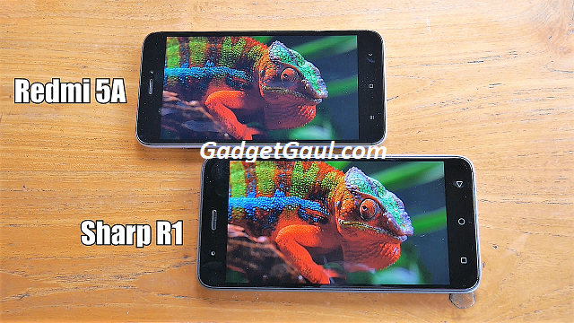 Xiaomi Redmi 5A - Display vs Sharp R1